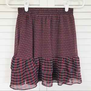 Copper Key Lined Skirt Blue & Maroon Size XS